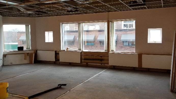 Windows and floors in new location.